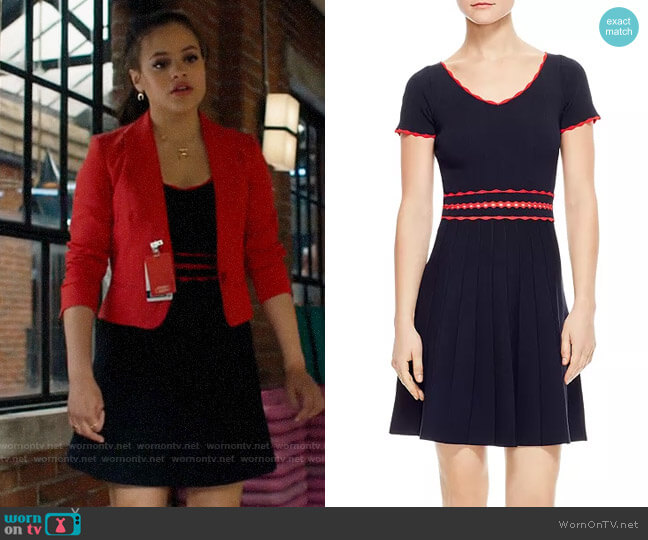 Sandro Enrick Dress worn by Maggie Vera (Sarah Jeffery) on Charmed