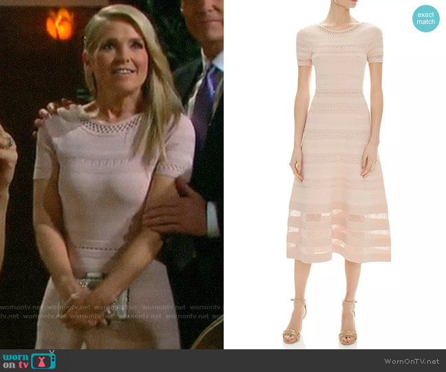 Sandro Roselle Dress worn by Jennifer Horton (Melissa Reeves) on Days of our Lives
