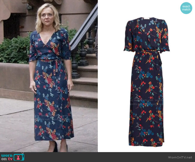Sea Mari Floral Wrap Maxi Dress worn by Susan (Rachel Bay Jones) on God Friended Me