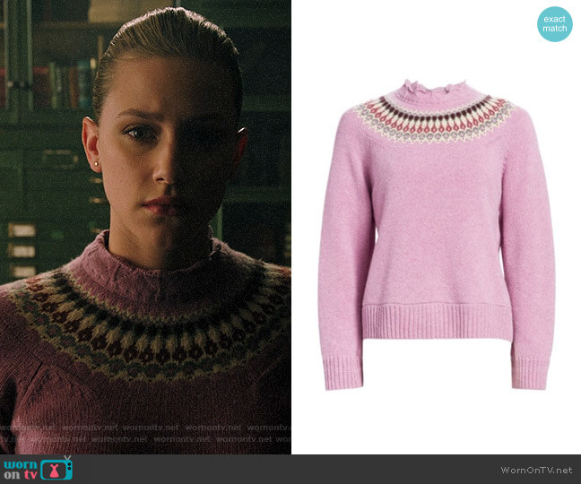 Sea Brie Fair Isle Sweater worn by Betty Cooper (Lili Reinhart) on Riverdale