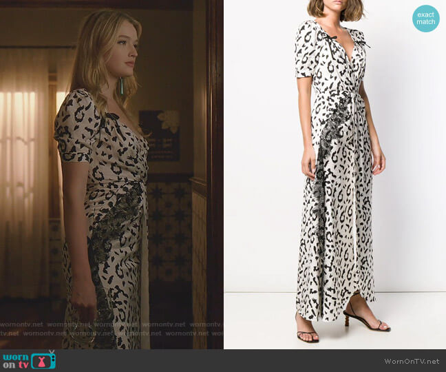 Leopard Print Long Dress by Self Portrait worn by Kirby Anders (Maddison Brown) on Dynasty