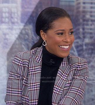 Sheinelle's grey plaid blazer on Today
