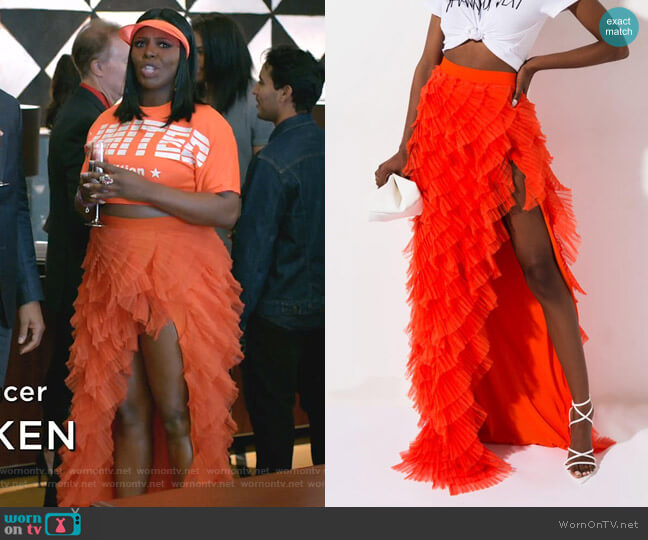 Drinks On You Tulle layered Maxi Skirt by Akira Label worn by Porsha Taylor (Ta'Rhonda Jones) on Empire