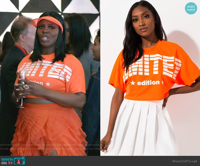 Limited Edition Cropped Tee by Akira Label worn by Porsha Taylor (Ta'Rhonda Jones) on Empire