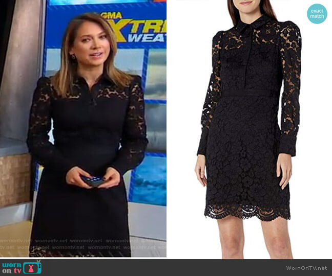 Highland Dress by Shoshanna worn by Ginger Zee  on Good Morning America