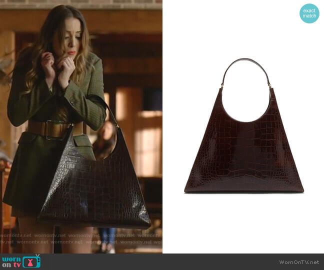 Rey Large Shoulder Bag by Staud worn by Fallon Carrington (Elizabeth Gillies) on Dynasty