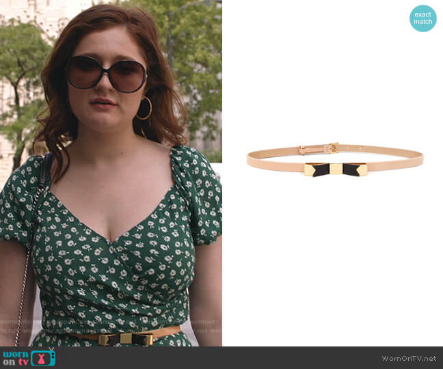 Natural Skinny Bow Belt by Ted Baker worn by Debbie Gallagher (Emma Kenney) on Shameless