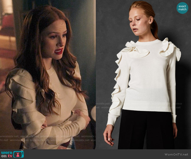 Ted Baker Pallege Sweater worn by Cheryl Blossom (Madelaine Petsch) on Riverdale