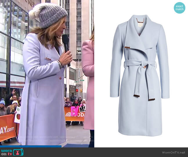 Sandra Coat by Ted Baker worn by Hoda Kotb  on Today
