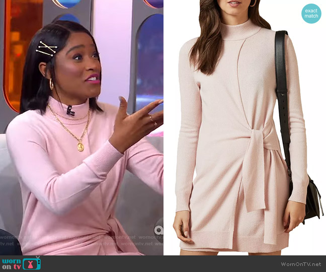 Amrita Tie Detail Knit Tunic Dress by Ted Baker worn by Keke Palmer  on Good Morning America