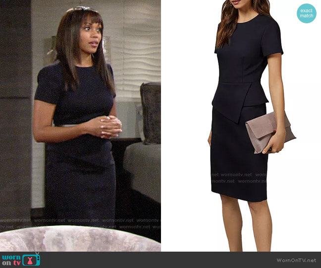 Ted Baker Elynah Dress worn by Amanda Sinclair (Mishael Morgan) on The Young & the Restless