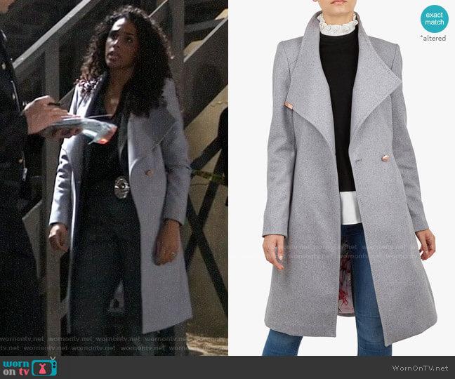 Ted Baker Sandra Wrap Coat worn by Jordan Ashford (Briana Nicole Henry) on General Hospital