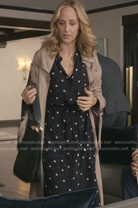 Teddy's black geometric print shirtdress on Greys Anatomy