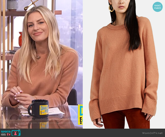Sibina Wool-Cashmere Sweater by The Row worn by Morgan Stewart  on E! News