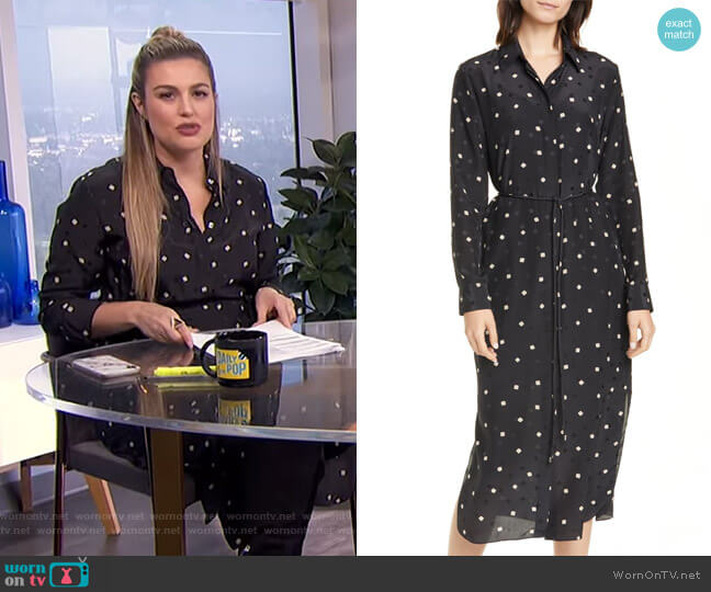 Belted Silk Shirtdress by Theory worn by Carissa Loethen Culiner  on E! News