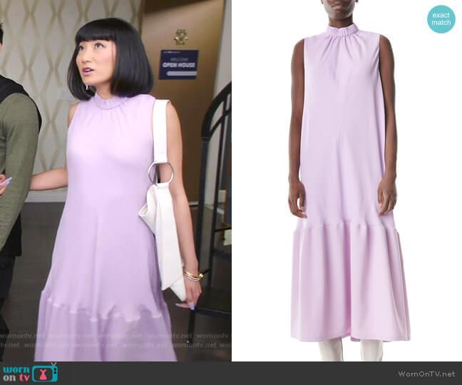 Modern Drape Sculpted Long Dress by Tibi worn by Mei Lin (Poppy Liu) on Sunnyside