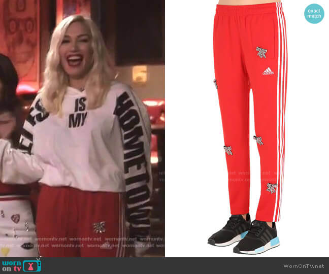 Embellished Bows Vintage Track Pants by Tiger in the Rain worn by Gwen Stefani  on The Voice