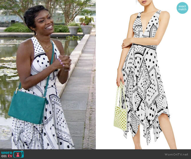 Topshop Spot Print Pleated Pinafore Dress worn by Ali Finer (Javicia Leslie) on God Friended Me