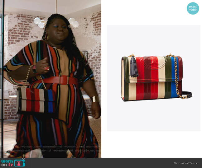 Fleming Eel Patchwork Convertible Shoulder Bag by Tory Burch worn by Becky (Gabourey Sidibe) on Empire