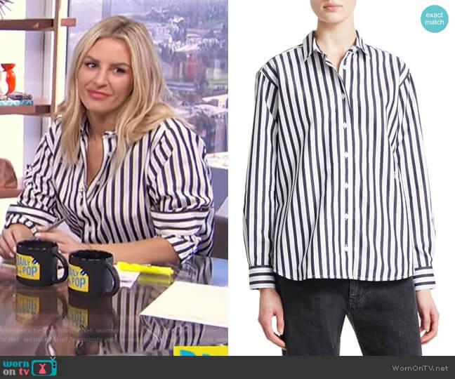 Capri Stripe Cotton Shirt by Toteme worn by Morgan Stewart  on E! News