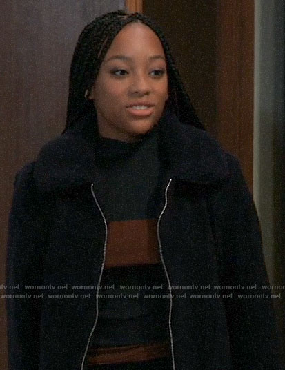 Trina's black fleece jacket on General Hospital