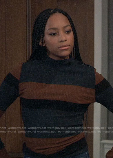 Trina's striped sweater on General Hospital