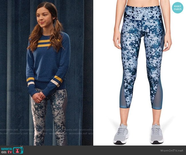 Under Armour HeatGear Armour Mesh Ankle Crop worn by Nini (Olivia Rodrigo) on High School Musical The Musical The Series