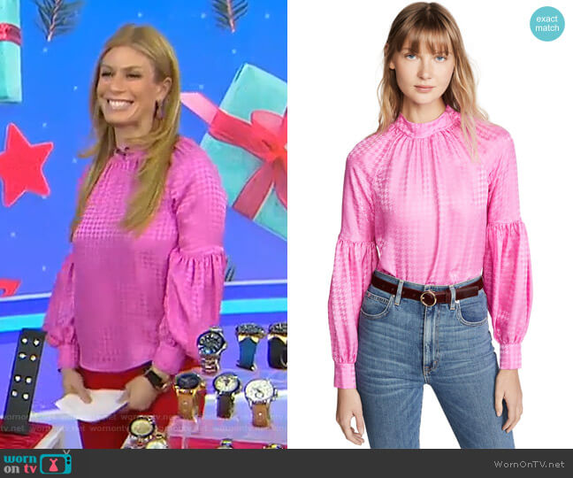Cicley Top by Veronica Beard worn by Jill Martin  on Today