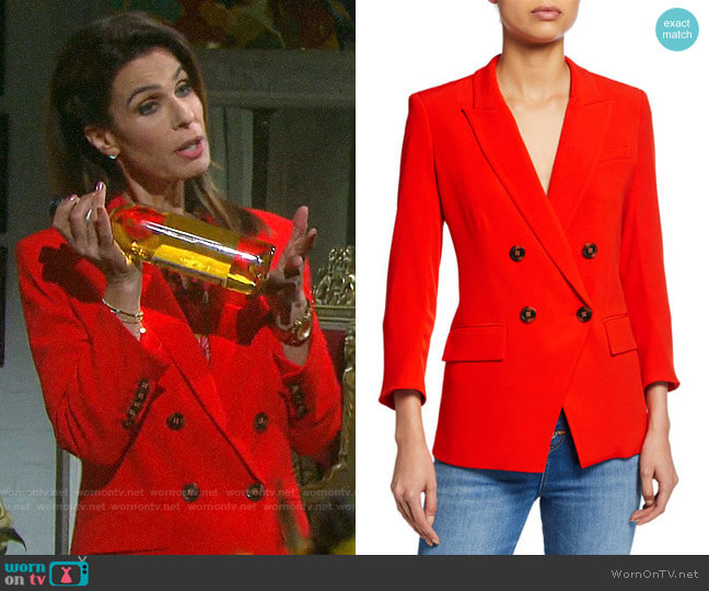 Veronica Beard Dinah Dickey Jacket worn by Hope Williams (Kristian Alfonso) on Days of our Lives
