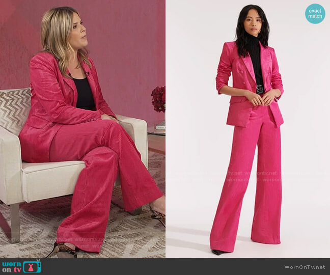 Gaya Dickey Jacket and Damon Trouser by Veronica Beard worn by Jenna Bush Hager  on Today