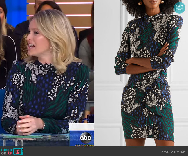 Louella Dress by Veronica Beard worn by Sara Haines  on Good Morning America