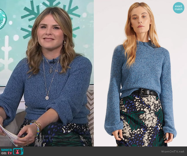 Alexey Sweater by Veronica Beard worn by Jenna Bush Hager  on Today