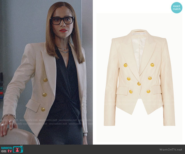 Veronica Beard Cooke Blazer worn by Amanda Doherty (Victoria Cartagena) on Almost Family