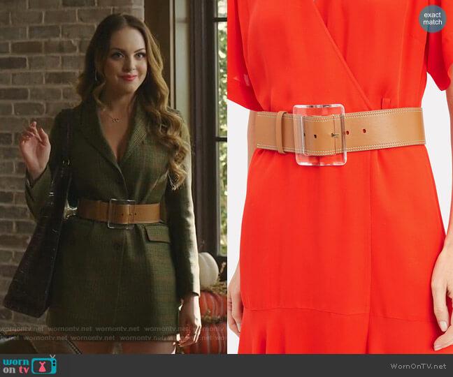 Corin Belt by Veronica Beard worn by Fallon Carrington (Elizabeth Gillies) on Dynasty