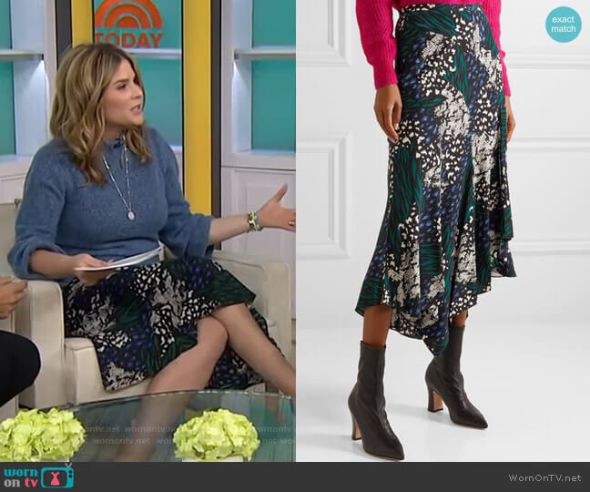 Mac Skirt by Veronica Beard worn by Jenna Bush Hager  on Today