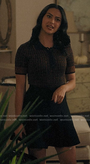 Veronica's metallic polo sweater  on Riverdale