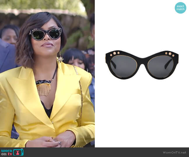 Cat Eye Sunglasses by Versace  worn by Cookie Lyon (Taraji P. Henson) on Empire