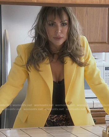 Kelly's yellow blazer on The Real Housewives of Orange County