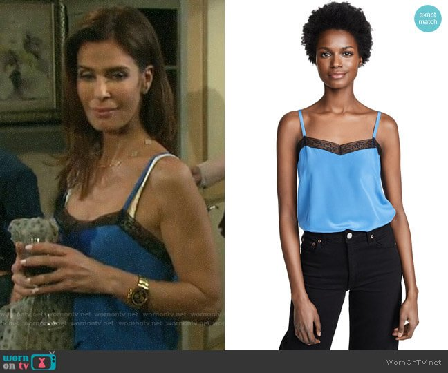 Zadig & Voltaire Camel Cami worn by Hope Williams (Kristian Alfonso) on Days of our Lives