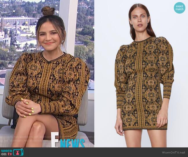 Jacquard Dress by Zara worn by Erin Lim  on E! News