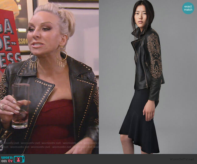 Studded Leather Jacket by Zara worn by Margaret Josephs  on The Real Housewives of New Jersey
