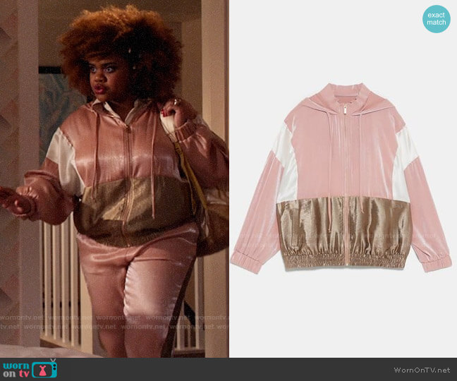 Zara Colorblock Sweatshirt worn by Kourtney (Dara Renee) on High School Musical The Musical The Series