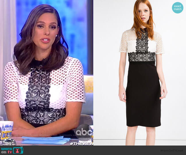 Lace Pencil Dress by Zara worn by Abby Huntsman  on The View