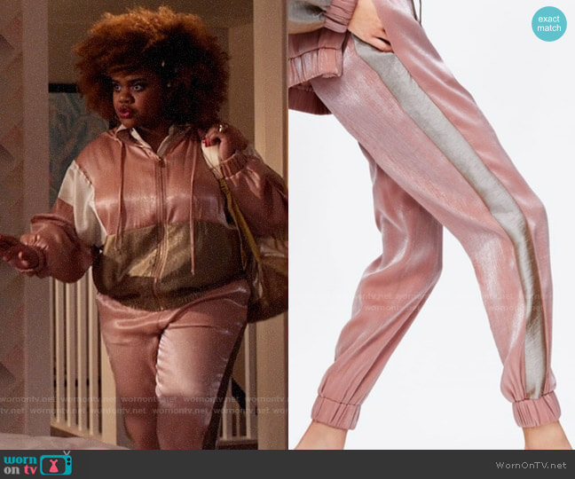 Zara Jogging Pants with Band worn by Kourtney (Dara Renee) on High School Musical The Musical The Series