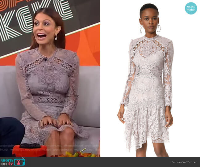 Stranded Lace Dress by Zimmermann worn by Bethenny Frankel on GMA Strahan Sara And Keke