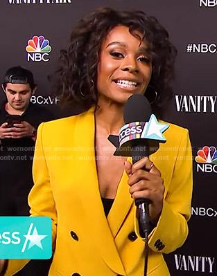 Zuri's yellow blazer on Access Hollywood