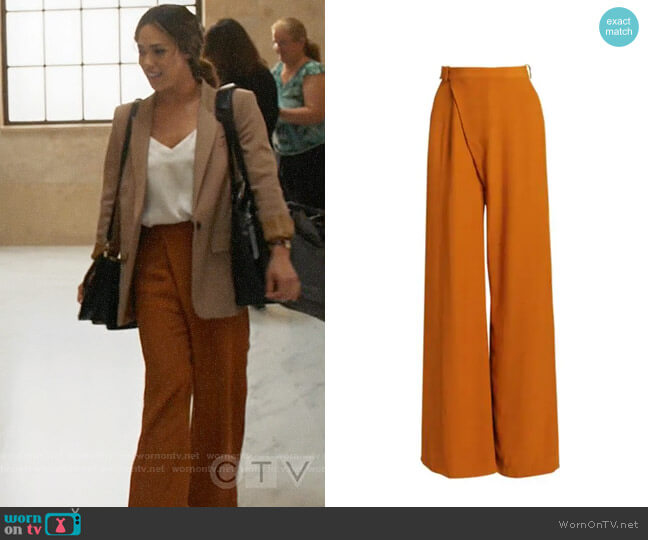 3.1 Phillip Lim Front Overlap Pants worn by Emily Lopez (Jessica Camacho) on All Rise