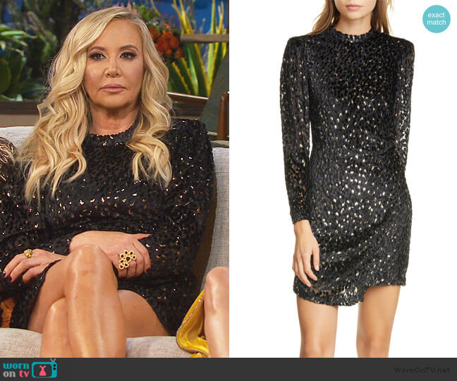 Jane Velvet Dress by A.L.C. worn by Shannon Beador  on The Real Housewives of Orange County