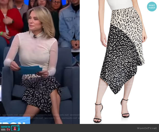 Natalie Asymmetrical Colorblock Skirt by A.L.C. worn by Amy Robach  on Good Morning America