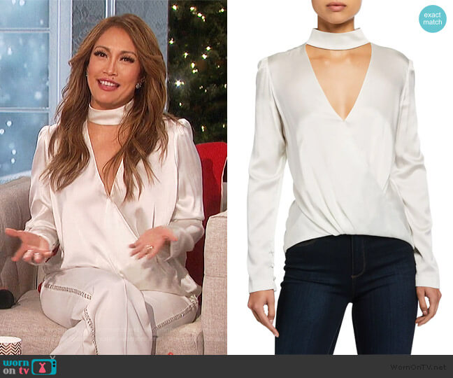 Raquel Top by A.L.C. worn by Carrie Inaba  on The Talk